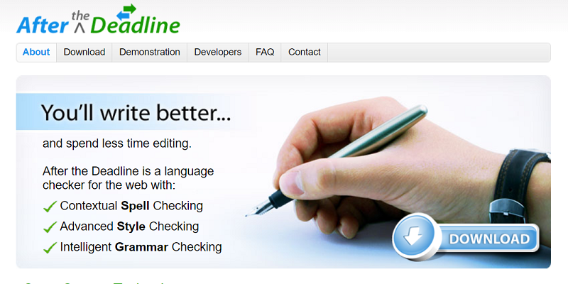 Picture of After the Deadline grammar and punctuation checker