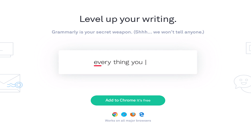 Picture of Grammarly grammar and punctuation checker