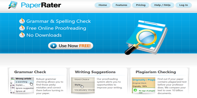 Picture of PaperRater Grammar and Spelling Checker