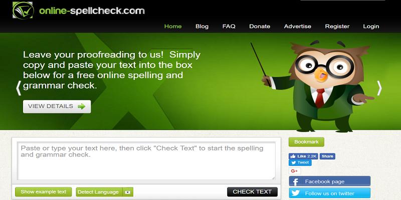 SpellCheckOnline Proofreading tool