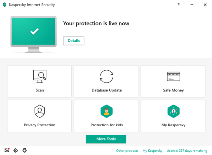Kaspersky User Interface 2020