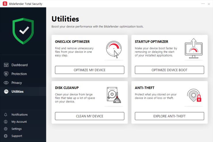Bitdefender's new 2019 Interface
