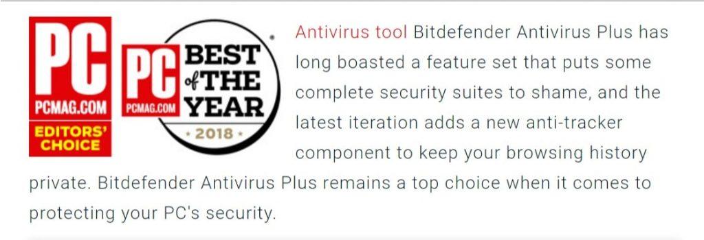 Bitdefender Best Antivirus Protection 2018 PC Mag