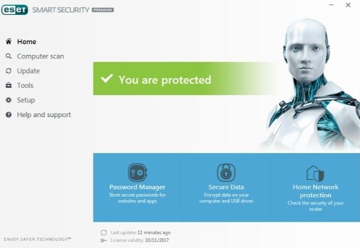 ESET Antivirus Interface
