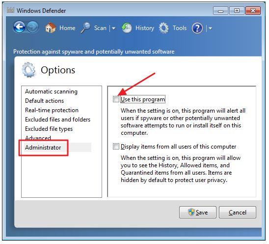 administrator tool