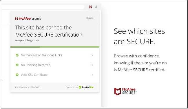 mcaffe secure certification