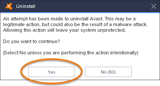 select-yes-to-ensure-uninstallation