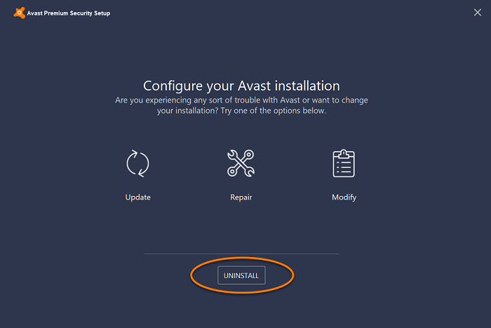 avast-setup-select-uninstall