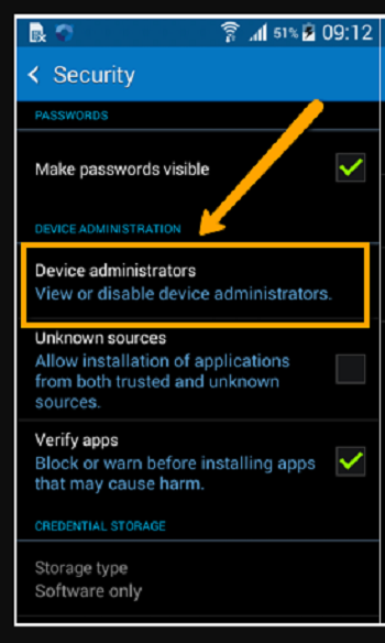 enable device administrator