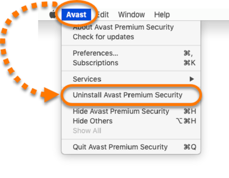 select-avast-menu