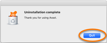 select-quit-to-complete-uninstallation