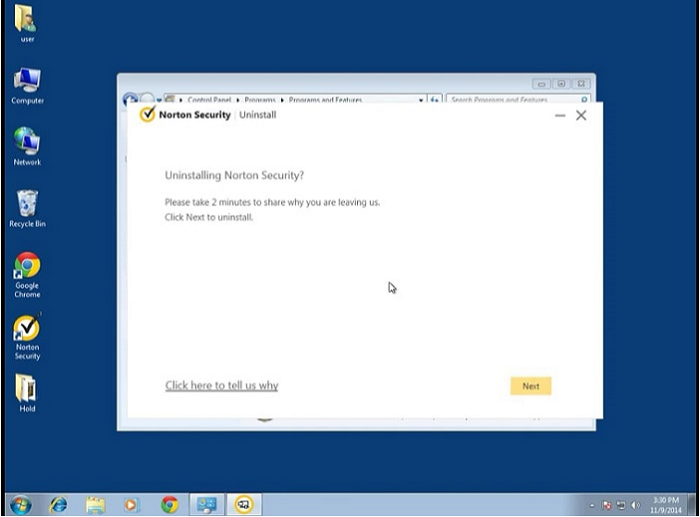 select-next-to-continue-norton-uninstallation