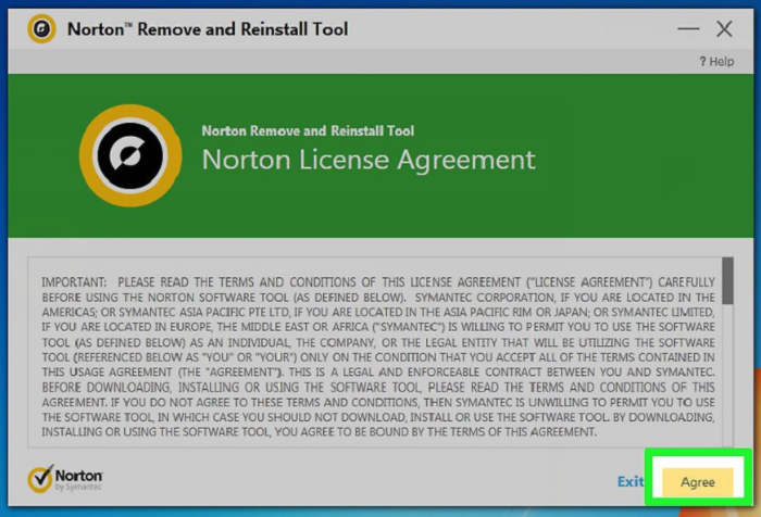 select-agree-terms-of-norton-remove-tool