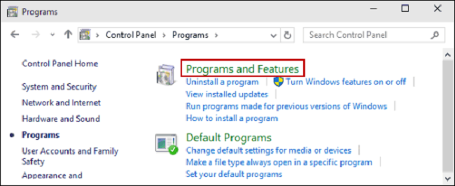 open-program-features